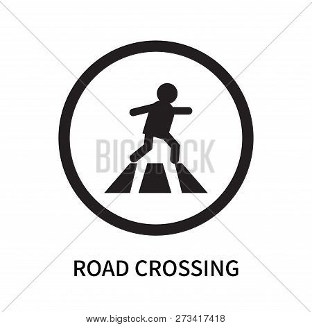 Road Crossing Icon Isolated On White Background. Road Crossing Icon Simple Sign. Road Crossing Icon