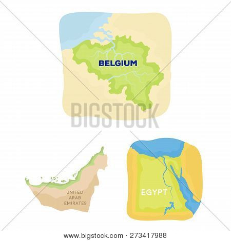 Vector Illustration Of Middle And East Symbol. Set Of Middle And Country Stock Symbol For Web.