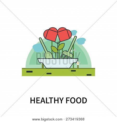 Healthy Food Icon Isolated On White Background. Healthy Food Icon Simple Sign. Healthy Food Icon Tre