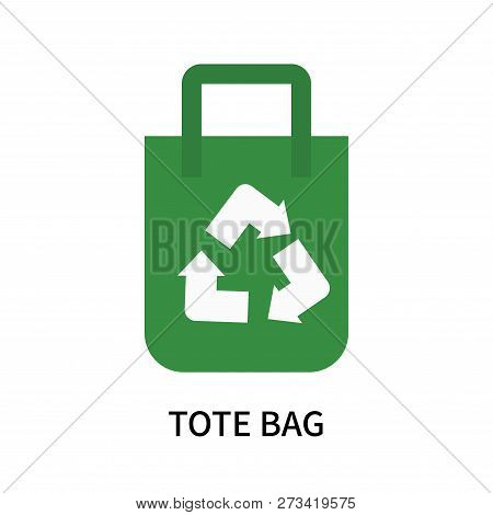 Tote Bag Icon Isolated On White Background. Tote Bag Icon Simple Sign. Tote Bag Icon Trendy And Mode
