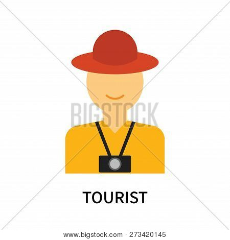 Tourist Icon Isolated On White Background. Tourist Icon Simple Sign. Tourist Icon Trendy And Modern