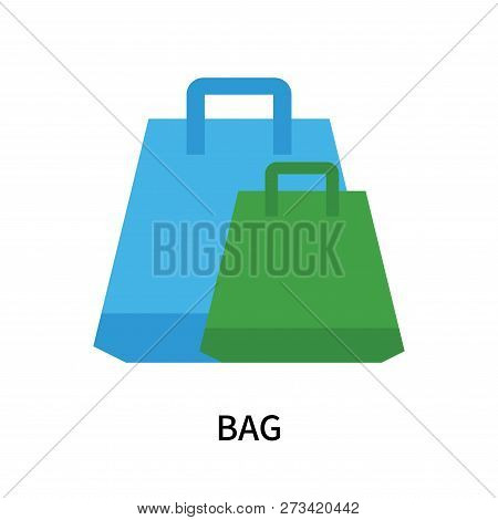 Bag Icon Isolated On White Background. Bag Icon Simple Sign. Bag Icon Trendy And Modern Symbol For G
