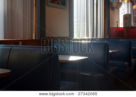 Restaurant Booth With Streaming Sunlight