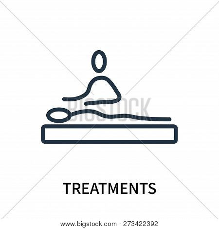 Treatments Icon Isolated On White Background. Treatments Icon Simple Sign. Treatments Icon Trendy An