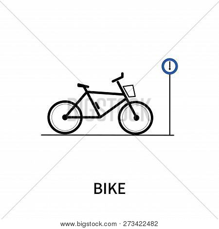 Bike Icon Isolated On White Background. Bike Icon Simple Sign. Bike Icon Trendy And Modern Symbol Fo