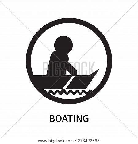 Boating Icon Isolated On White Background. Boating Icon Simple Sign. Boating Icon Trendy And Modern