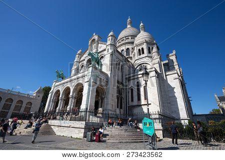 Paris, France, September 7, 2018 - Sacre-coeur Basilique In Montmartre Paris, France