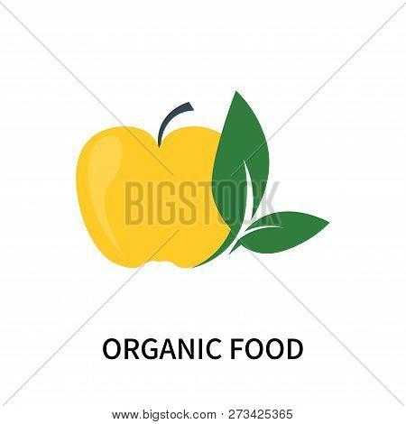 Organic Food Icon Isolated On White Background. Organic Food Icon Simple Sign. Organic Food Icon Tre