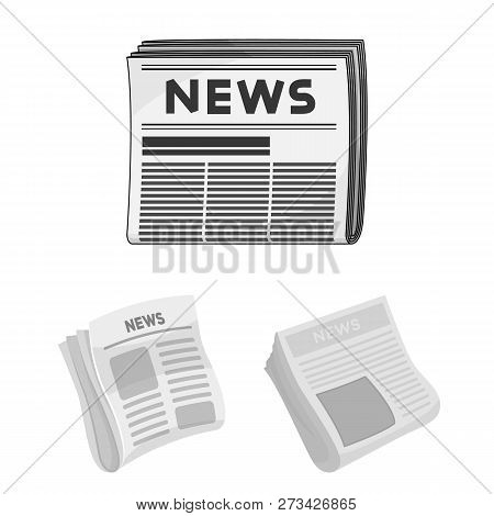 Vector Illustration Of Daily And Folded Icon. Set Of Daily And Paper Stock Symbol For Web.