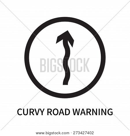 Curvy Road Warning Icon Isolated On White Background. Curvy Road Warning Icon Simple Sign. Curvy Roa