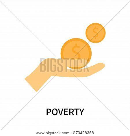 Poverty Icon Isolated On White Background. Poverty Icon Simple Sign. Poverty Icon Trendy And Modern