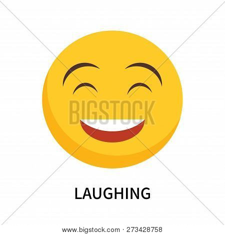 Laughing Icon Isolated On White Background. Laughing Icon Simple Sign. Laughing Icon Trendy And Mode