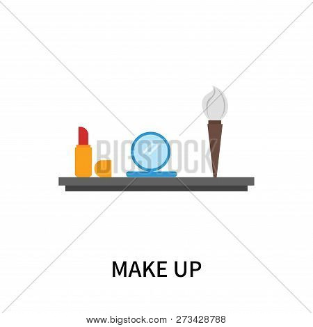 Make Up Icon Isolated On White Background. Make Up Icon Simple Sign. Make Up Icon Trendy And Modern
