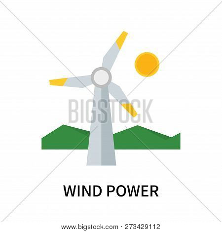 Wind Power Icon Isolated On White Background. Wind Power Icon Simple Sign. Wind Power Icon Trendy An