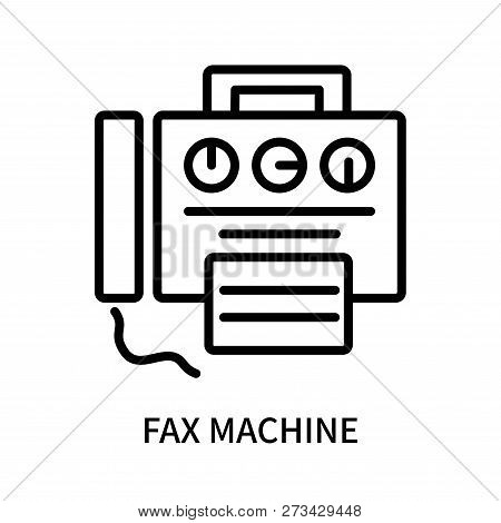 Fax Machine Icon Isolated On White Background. Fax Machine Icon Simple Sign. Fax Machine Icon Trendy