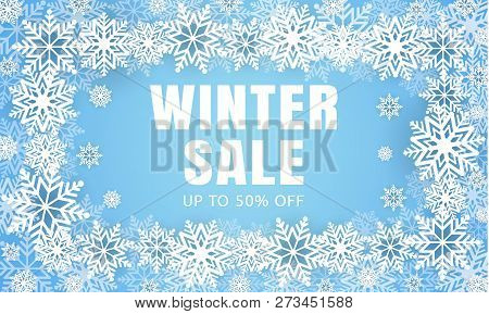 Winter Final Sale Concept Background. Realistic Illustration Of Winter Final Sale Concept Background