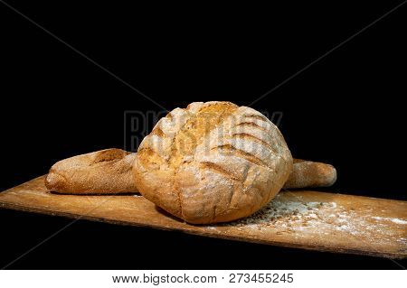 Bread White. Bread On Wood. Bread On Table. Bread For Background. Bread For Breakfast. Bread Is Bake