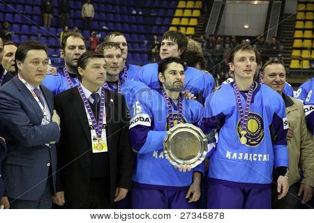 Kazakhstan Team - The Winner Of Iihf Ice-hockey World Championship Div I