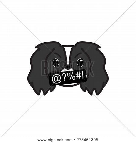 pekingese, emoji, swearing multicolored icon. Signs and symbols icon can be used for web, logo, mobile app, UI, UX poster