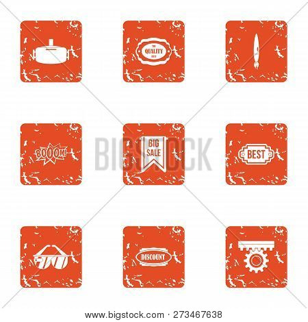 Exemption Icons Set. Grunge Set Of 9 Exemption Icons For Web Isolated On White Background