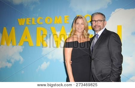 Steve Carell and Nancy Carell at the Los Angeles premiere of 'Welcome To Marwen' held at the ArcLight Cinemas in Hollywood, USA on December 10, 2018.