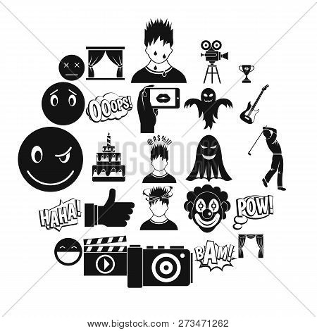 Affective Icons Set. Simple Set Of 25 Affective Icons For Web Isolated On White Background