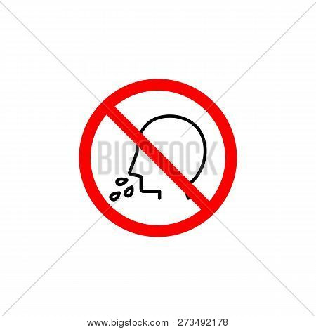 Forbidden  Spit Icon Can Be Used For Web, Logo, Mobile App, Ui, Ux