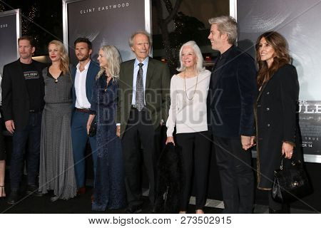 LOS ANGELES - DEC 10: Clint Eastwood, and family at the