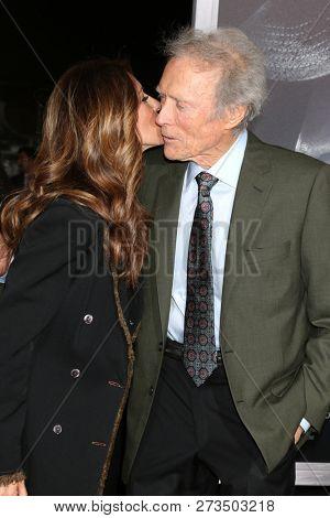 LOS ANGELES - DEC 10:  Cynthia Ramirez, Clint Eastwood at the