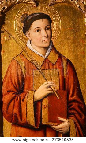 Painting Of Saint Stephen, The Protomartyr Of Christianity