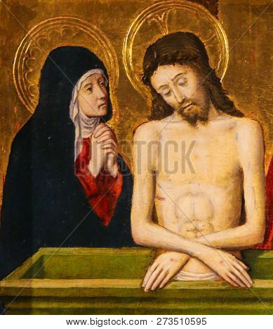 Jesus And Mother Mary On Good Friday