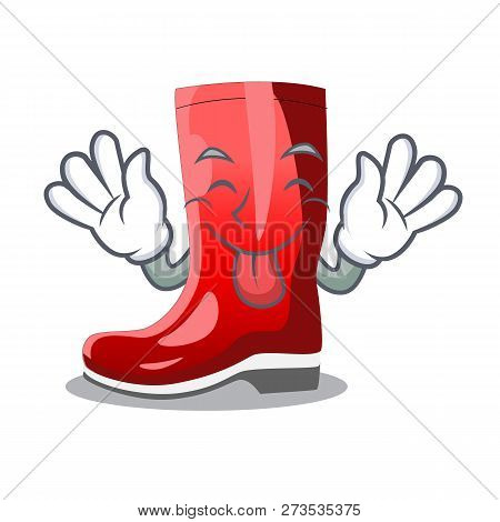Tongue Out Muddy Farmer Boots Shape The Cartoon
