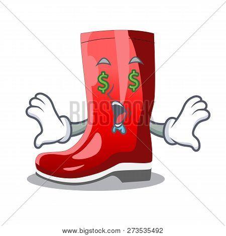 Money Eye Muddy Farmer Boots Shape The Cartoon