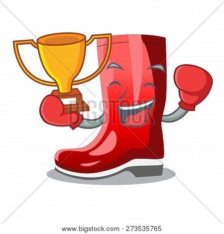 Boxing Winner Muddy Farmer Boots Shape The Cartoon