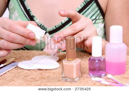 Woman Care Of Hands