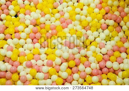 Colorful Plastic Balls For Fun And Jumping On Kids Playground