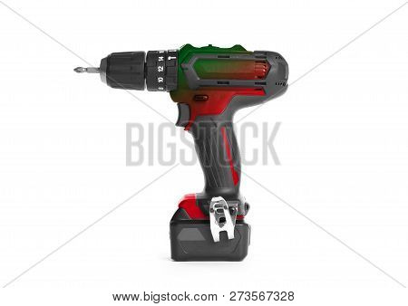 Cordless Screwdriver Or Power Drill Isolated