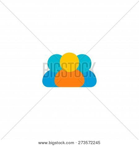 Members Icon Flat Element. Vector Illustration Of Members Icon Flat Isolated On Clean Background For
