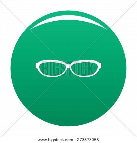 Astigmatic Spectacles Icon. Simple Illustration Of Astigmatic Spectacles Icon For Any Design Green