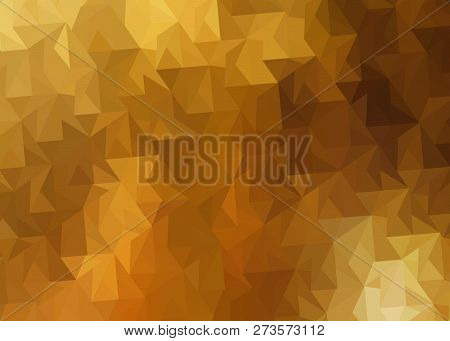Abstract Background With Colored Triangles Autumn Leaves Fall