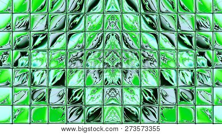 Abstract Fractal Art Background Illustration Space Geometry. Background Consists Fractal Multicolor