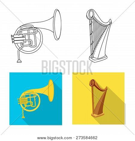 Vector Design Of Music And Tune Icon. Set Of Music And Tool Vector Icon For Stock.