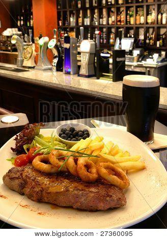 Steak And A Pint Of Dark Beer