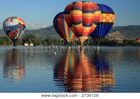 Balloons Over Water