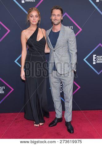 LOS ANGELES - NOV 11:  Ryan Eggold arrives for the 2018 People's Choice Awards on November 11, 2018 in Santa Monica, CA