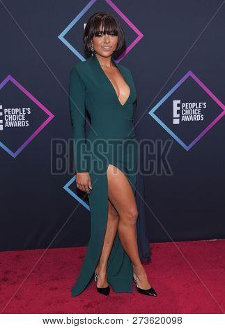 LOS ANGELES - NOV 11:  Kat Graham arrives for the 2018 People's Choice Awards on November 11, 2018 in Santa Monica, CA