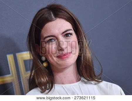 LOS ANGELES - NOV 04:  Anne Hathaway arrives for the 2018 Hollywood Film Awards on November 4, 2018 in Beverly Hills, CA