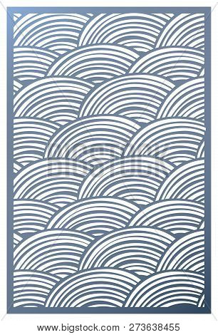 Vector Template Laser Cut Panel. Openwork Pattern With Circles For Decorative Panel. Wall Panels Or
