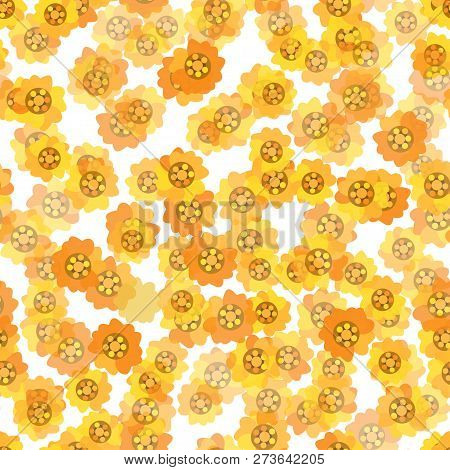 A Seamless Background With Daisy Yellow Flowers
