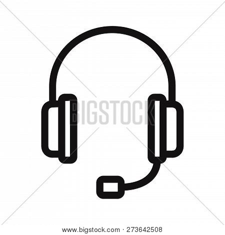 Headset Icon Isolated On White Background. Headset Icon In Trendy Design Style. Headset Vector Icon